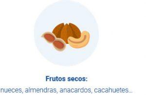 Ilustración de frutos secos